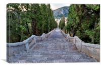 Calvari Steps, Canvas Print