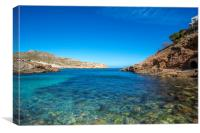 Cala Carbó on the beautiful island of Mallorca, Canvas Print