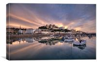 Torquay Sunset Explosion, Canvas Print