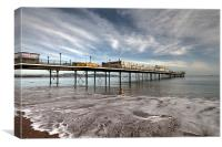 Paignton Pier (and a dog), Canvas Print