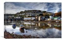 Looe River Reflections, Canvas Print