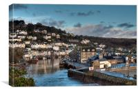 Peaceful day on the Looe River, Canvas Print