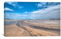 Low tide Gwithian Sands Cornwall, Canvas Print