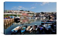Brixham Harbour early evening, Canvas Print