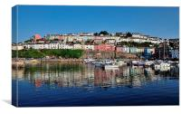 Brixham Harbour Reflections, Canvas Print