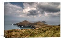 The Rumps on the North Cornwall Coast Path, Canvas Print