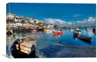 Slipway at Brixham Harbour, Canvas Print
