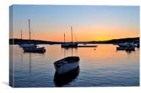 Sunset at Teignmouth Back Beach on the River Teign, Canvas Print
