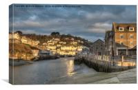Early morning golden light on the River Looe, Canvas Print