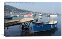 Calm early morning on Teignmouth Back Beach, Canvas Print