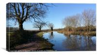 Grand Western Canal between Westleigh and Burlescombe, Canvas Print