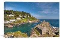 The Old Boat House Polperro on the Coast Path, Canvas Print