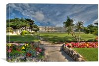 The Osborne Hotel and grounds Torquay , Canvas Print