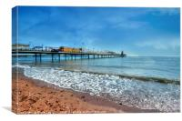 Early morning by Paignton Pier, Canvas Print