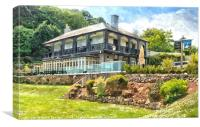 The Ness Hotel at Shaldon in South Devon, Canvas Print