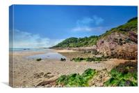 Talland Bay between Looe and Polperro in Cornwall., Canvas Print