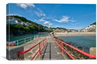Looe viewed from the end of the Banjo Pier, Canvas Print