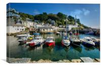 Polperro Harbour in South East Cornwall, Canvas Print