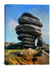 The Cheesewring Stowes Hill on Bodmin Moor, Canvas Print