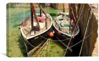 Happy Return And Barnabas At Mousehole, Canvas Print