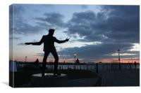 Billy Fury Statue, Canvas Print