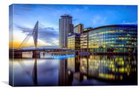 An evening at the BBC, Canvas Print