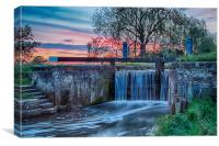 sunset over the lock, Canvas Print