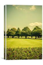 Hampton Court Palace Gardens - life sculpture, Canvas Print