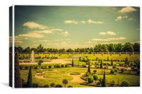 Hampton Court Palace Gardens - The Knot Garden, Canvas Print
