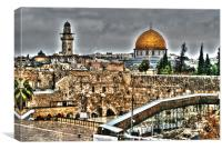 Dome Of The Rock, Canvas Print
