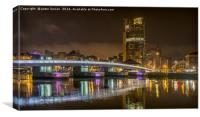 Lights Over The Lagan, Canvas Print