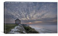 Mussenden Sunset, Canvas Print