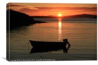 Small Boat In The Sunset, Canvas Print