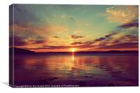 Stunning Shetland Sunset, Canvas Print