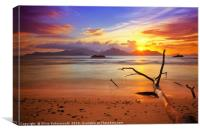 colorfull sunset, Canvas Print