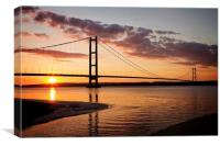 Humber Bridge , Canvas Print