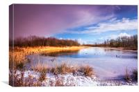 Waters Edge Country Park Barton upon Humber North , Canvas Print