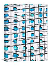 Reflection of Jardine House, Canvas Print