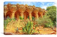 Park Guell, Canvas Print