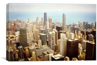 Chicago Up High, Canvas Print