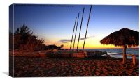 Sunset on Varadero Beach Cuba, Canvas Print