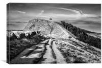 Back Tor, from Mam Tor Great Ridge, Canvas Print