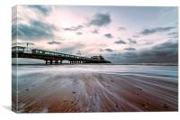 Bournemouth Pier, Wintry Morning., Canvas Print