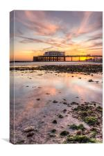 A very low tide, Canvas Print