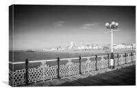 Brighton Pier to the Shore, Canvas Print