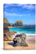 Lion Rock from Kynance Cove, Canvas Print