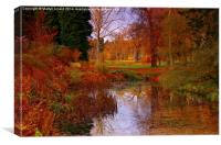Autumns Golden Colour, Canvas Print
