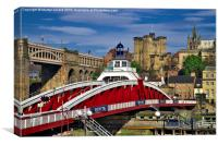 Swing Bridge Newcastle upon Tyne, Canvas Print