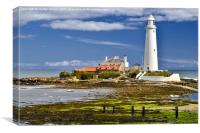 St. Mary's Lighthouse Whitley Bay, Canvas Print
