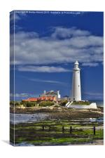 St. Mary's Lighthouse  Whitley Bay - Portrait, Canvas Print